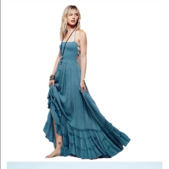 bda53f7f0b2 Summer Breeze Gauze Maxi Dress-Teal